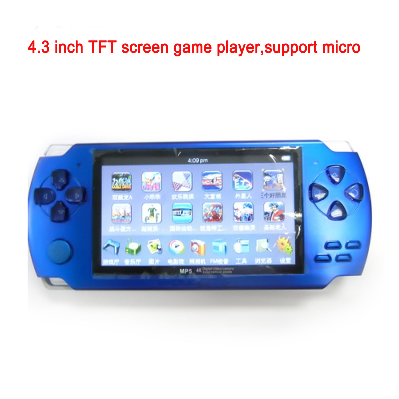 Portable 4.3 TFT screen mp4 mp5 mp6 game player with loudspeaker,2.0 Mega pixel digital camera