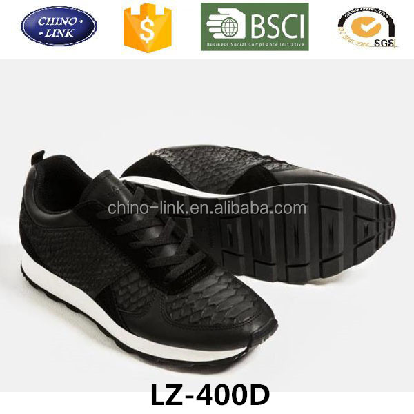 Good quality leather sport shoe and sneakers zapatos deportivos running de mujer made in china