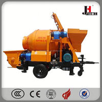 2015 Small Concrete Pump With Mixer Mechine In India