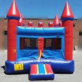 HOLA red and blue inflatable bouncer/used commercial bounce houses for sale