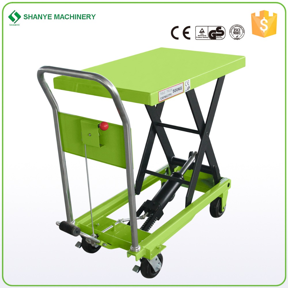 Hydraulic Manual Scissor Lift table Trolley