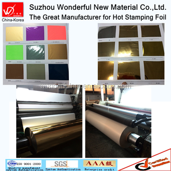 Visible single color hot stamping foil for textile & fabric
