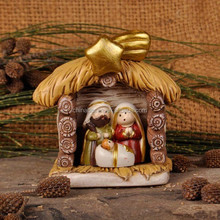 Wholesale nativity house figurine handicraft making
