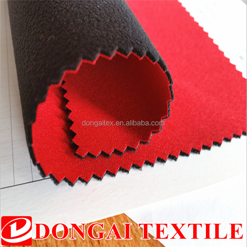 3 layer 100% Polyester pongee fabric DTY One Side Brushed Polar Fleece Fabric