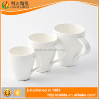 Durable elegant design high quality white LM622 black ceramic coffee mugs with low price