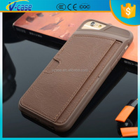 VCASE New arrival leather case for iphone6, Hot selling case for iphone6, leather case for iphone