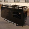 Black Alloy Tool box with Dog Cage