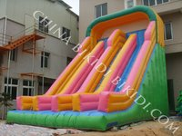 double inflatable slide,inflatable jumping slide B4026