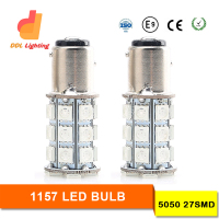 Hot selling 27 SMD 5050 1157 1156 BA15S P21W led Reverse Turn Signal Brake Parking Day Running LED 12V Car LED Brake Light