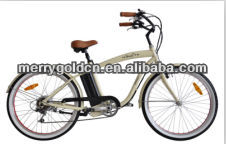 chopper beach cruiser electric bike.26/28inch beach cruiser bike