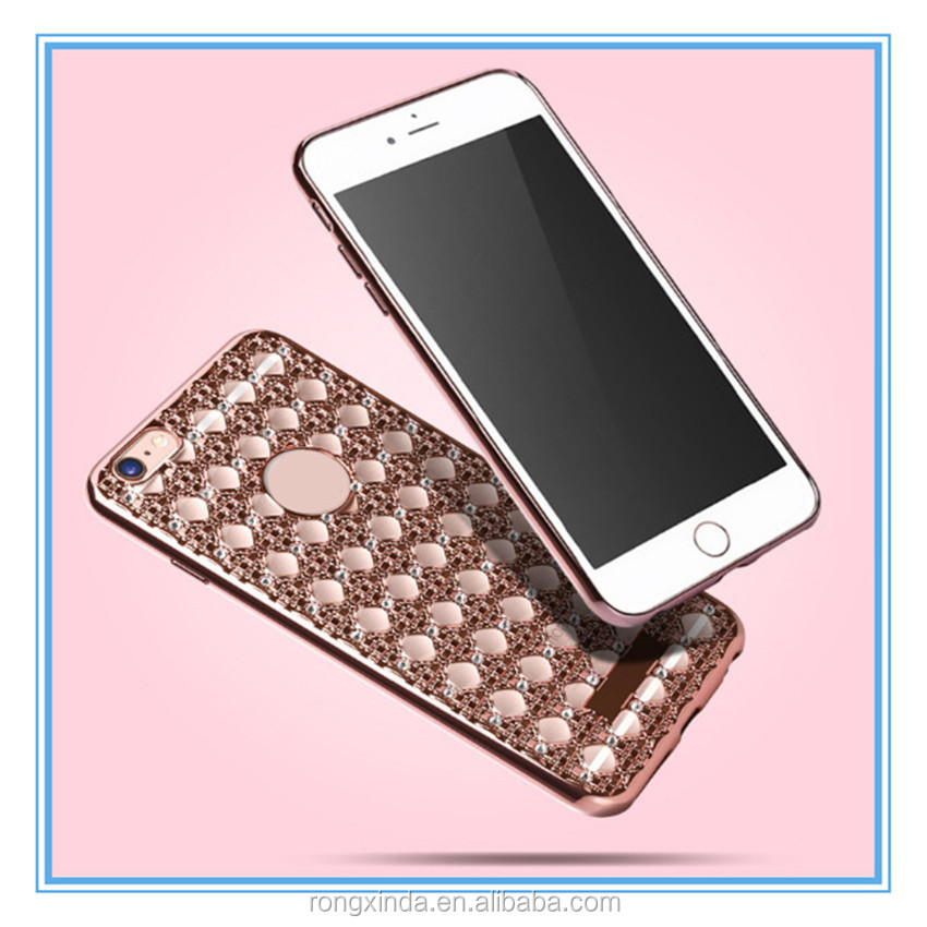 NEW design for iPhone 7 case latest 5g mobile phone case for iPhone 7 luxury hollowed-out agate diamond phone case