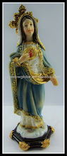 Religious resin lady figurine sculpture