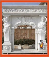 Carved Stone Fireplace Surrounds