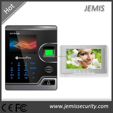 TCP/IP, RS485, WANs control, 2.8'' touch screen fingerprint access control multi apartment video intercom system