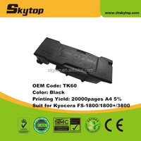 new compatible toner cartridge TK60 for Kyocera FS-1800/3800 copier machine