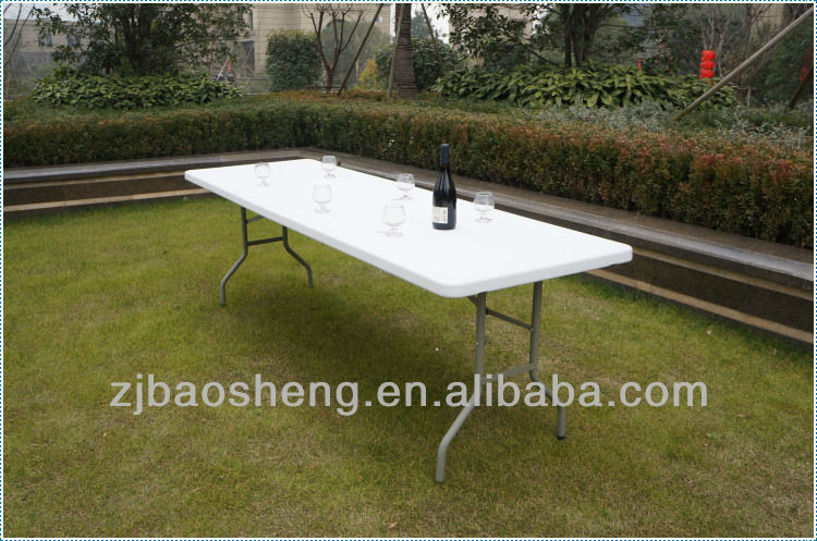 8FT plastic rectangle folding table, blow mould furniture for outdoor,banquet,camping