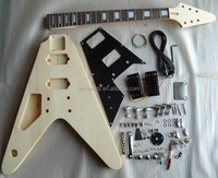 Left hand flyingv electric guitar kits