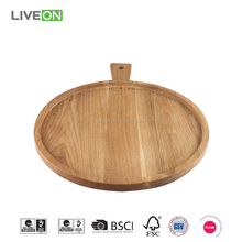Oak Wooden Serving Tray With Handle