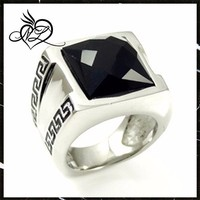 Latest Trend Stainless Steel Black Onyx Class Ring