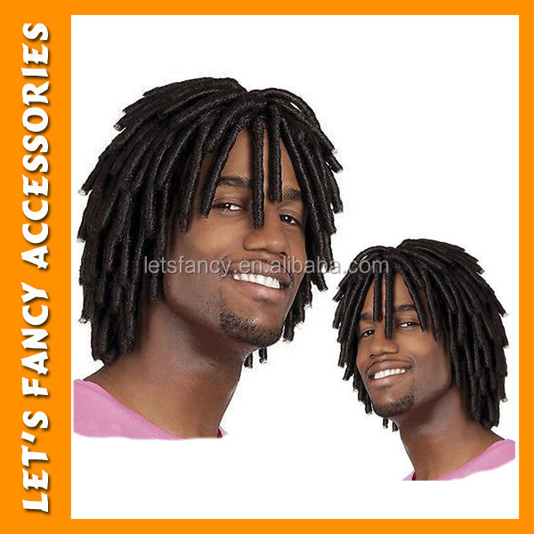 New deisgn high quality black dreadlock tight curly wigs for black men PGWG01644