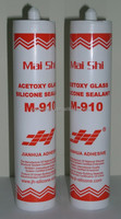 Silicone caulking material