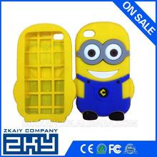 New arrival silicone minions back cover with multi colors