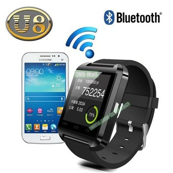 CE ROHS Wish Hot Sale U8 smart watch with camera and sim card slot