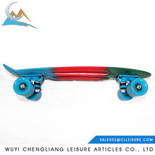 2017 blank board 22*6inch Blue/Red/Green fade pastel vigor skateboard