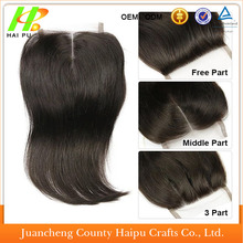 manufacturer cheap free part, middle part, 3 part virgin human hair 4x4 lace closures