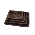 Rectangular multifunction woven rattan storage basket for bathroom