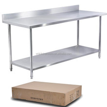 Wholesales 2-tier floding kitchen stainless steel work table