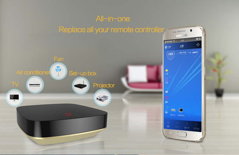 Home intelligent wifi ir universal smart home controller from phone app
