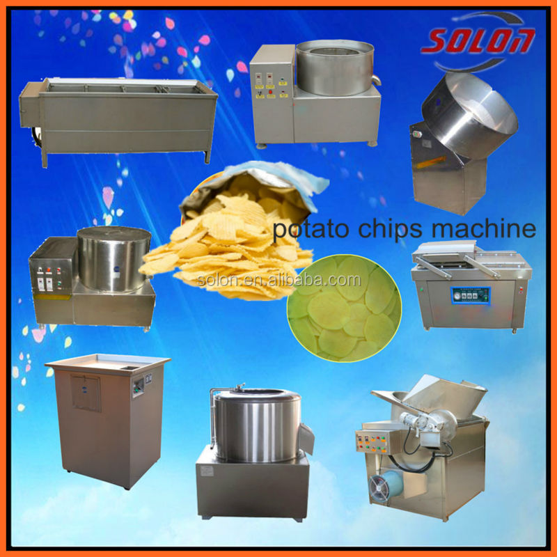 zhengzhou solon small potato chips production / potato chips seasoning / fry potato chips machine
