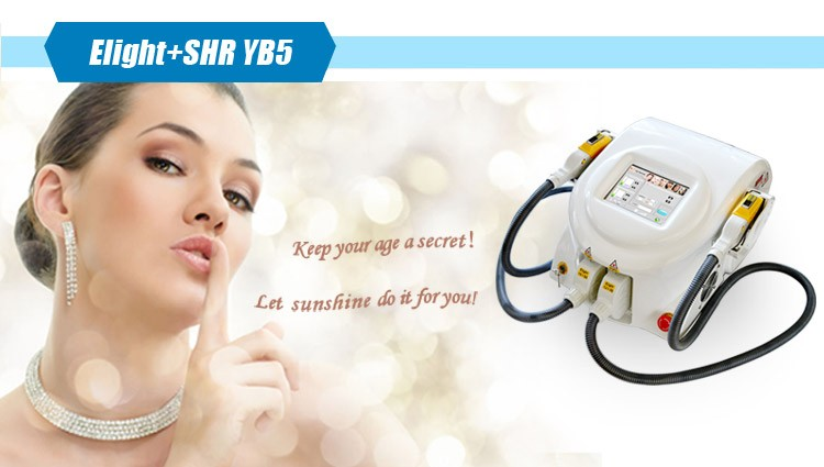 OPT Technolgoy salon use hair removal machine portable shr e-light ipl with imported lamp