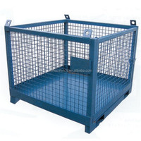 Metal Steel Butterfly Container Cage/foldable warehouse butterfly pallet cage