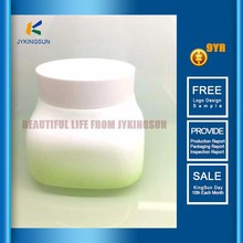 Series white jade glass bottle and jar for cosmetic cream packaging