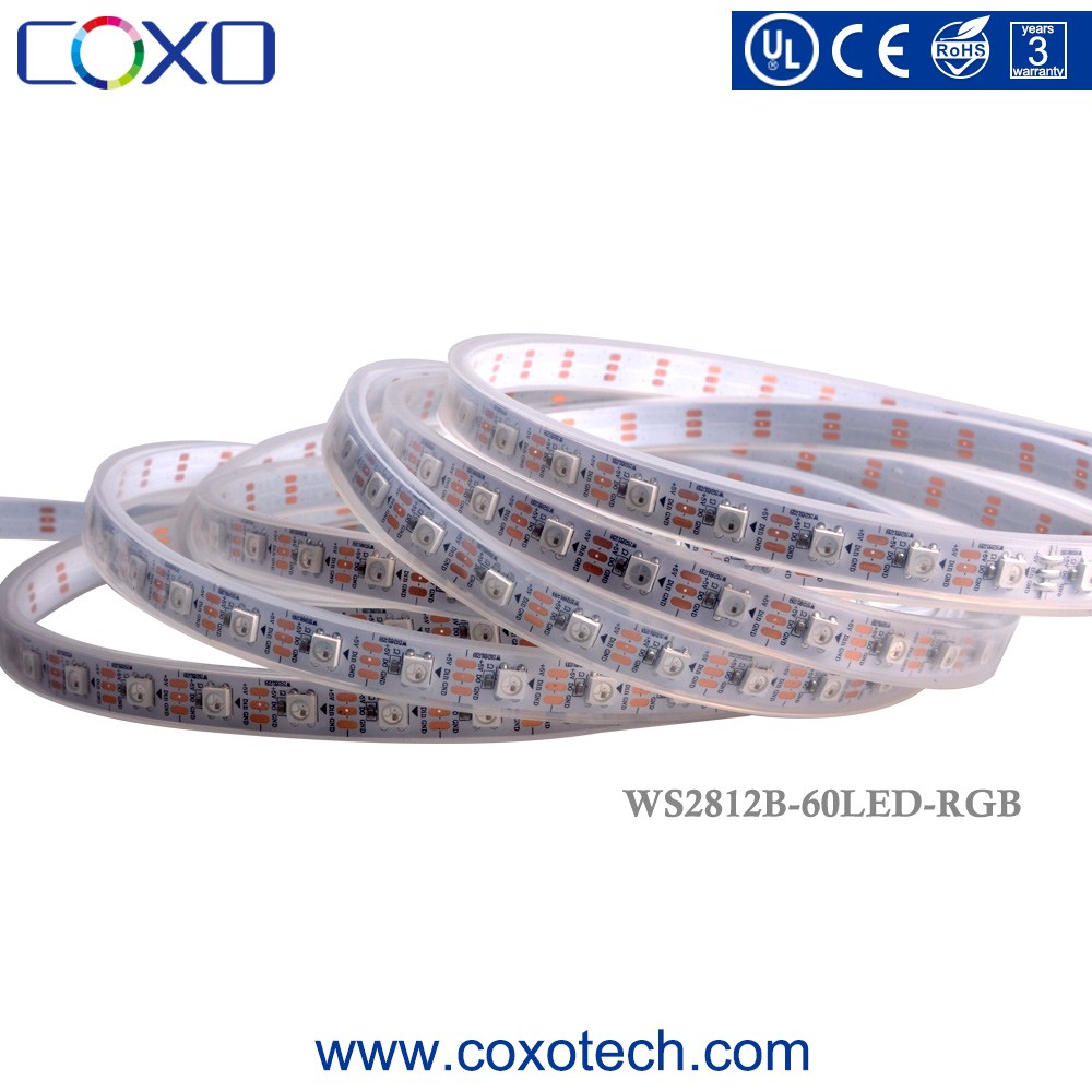 Best SMD 5050 Programmable WS2812B 144 Pixel Digital IP65 Waterproof RGB RGBW Led Strip