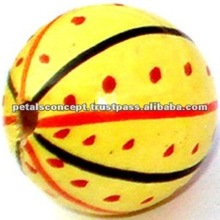 Handmade wooden round flat beads from india