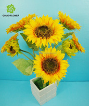 Guangzhou factory Artificial flower Sunflower with big and small flowers for export