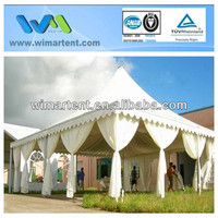8x8m Squared Frame Pagoda Tent for country club, golf and fairs