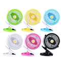 Custom logo portable mini 360 chinese charger clip fan price