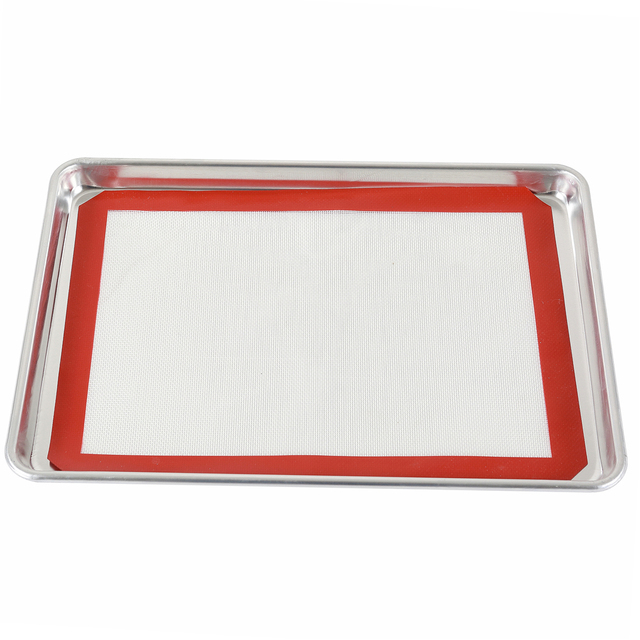 Wooden Handle natural aluminum commercial baker's half sheet 60x40cm baking tray cookie pan With Different Size