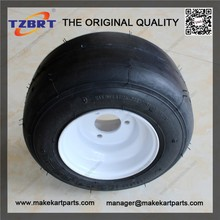 High quality go kart tire 10x4.5-5 wheel with iron rims for park ,garden