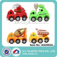 4 style kids plastic construction wind up truck toy