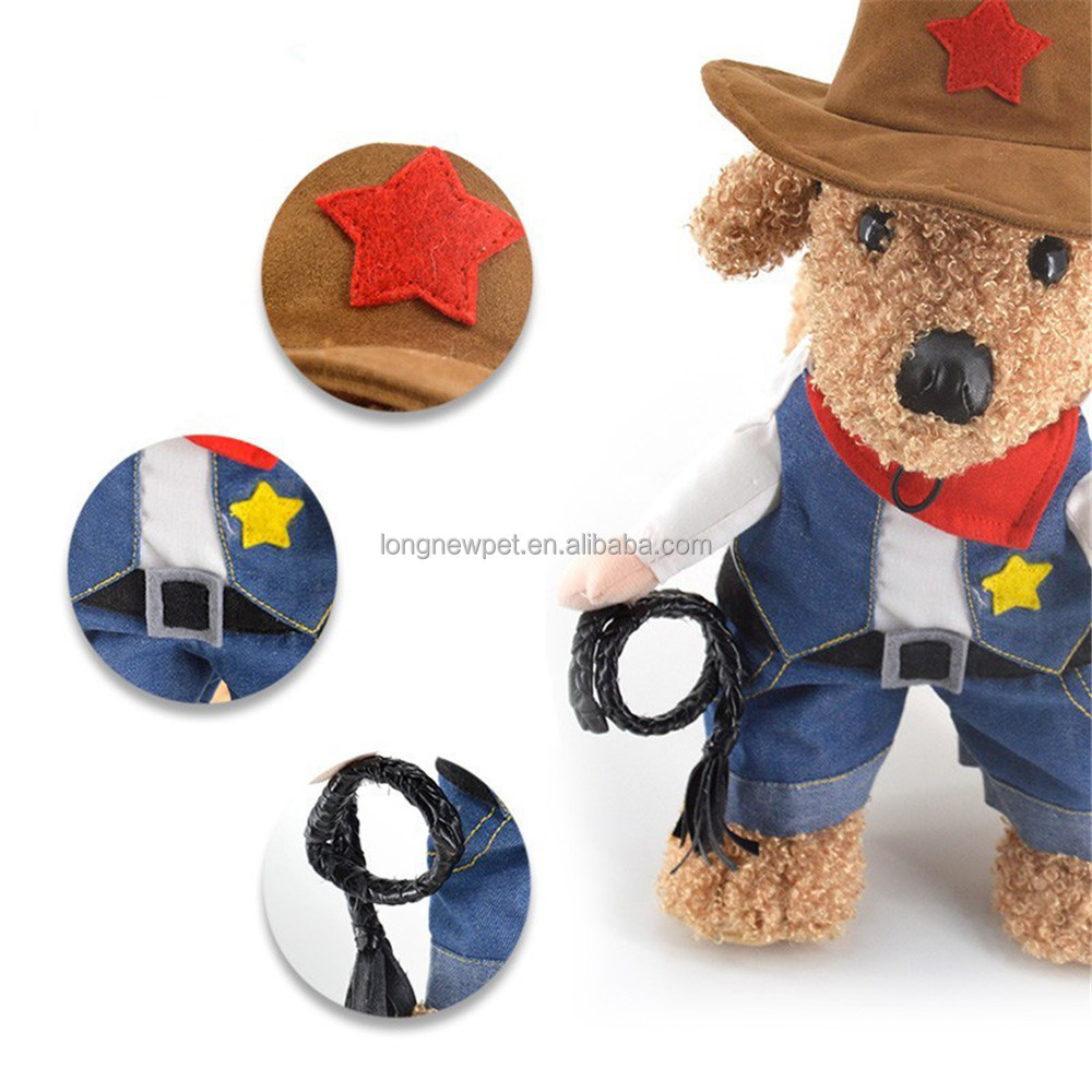 Funny Cowboy Dog Clothes Wholesale Dogs Costume