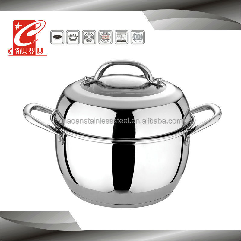 24cm belly shape 304 stainless steel pot