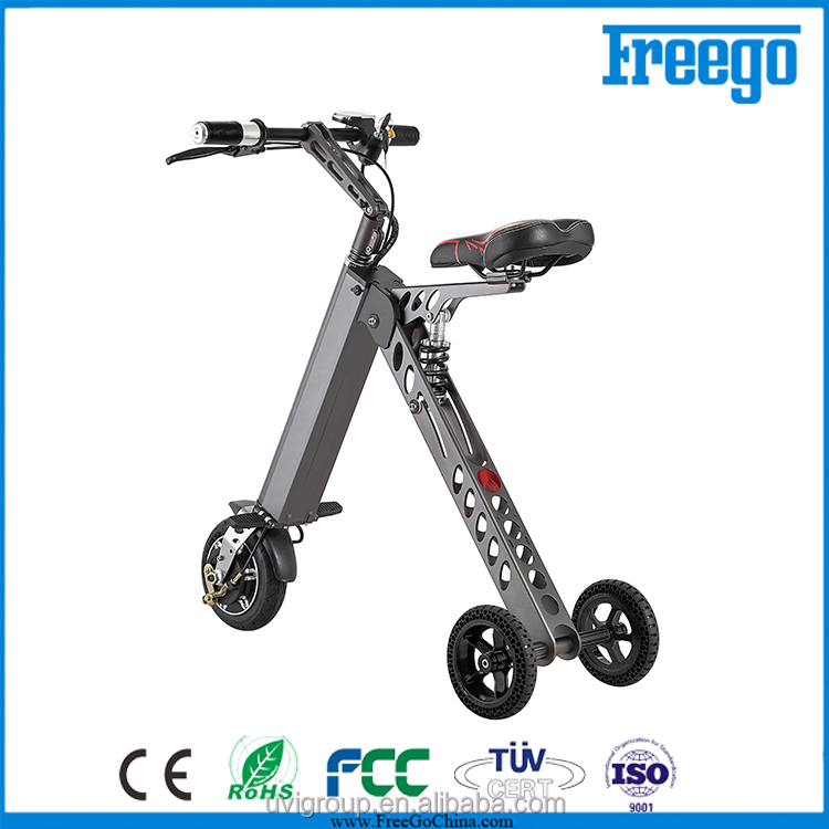Electric 3 wheel electric scooter/Freego new 3 wheel motor bike for adult