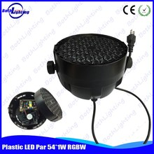 Professional and New Dmx 54pcs* 1w Rgbw Mini Plastic Led Par Light
