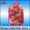 2015 Latest products EVA thermal forming kids school bag with stair climbing wheels trolley school bag for girls
