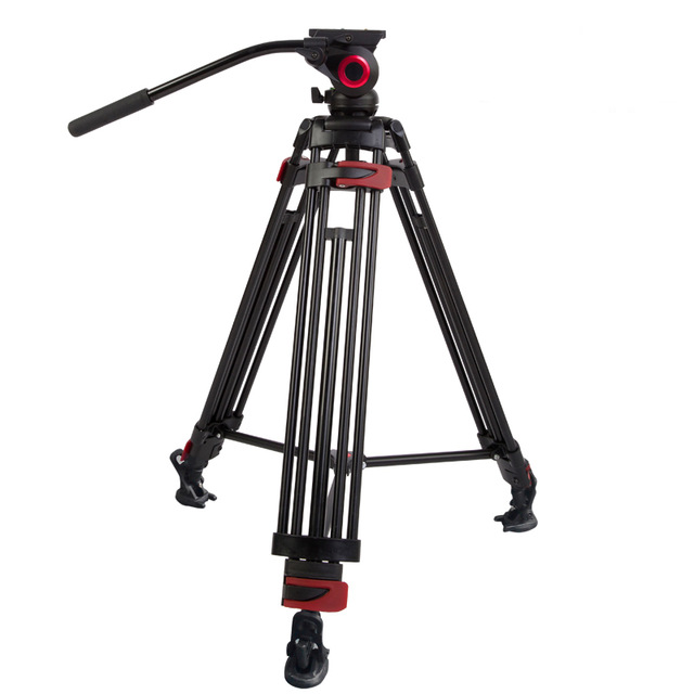 Lightweight Aluminum kingjoy video tripod with fluid head